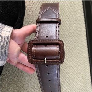 Auth. Burberry Brown Leather Size 6 Women's Belt